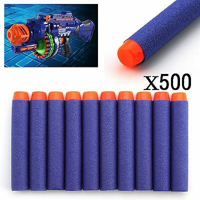 100Pcs Gun Soft Refill Bullets Darts Round Head Blasters For Nerf N-Strikeuk