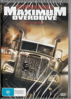 Maximum Overdrive Evils Wheels - Stephen King - New Dvd - Free Local Post