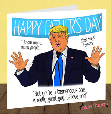Funny Donald Trump Fathers Day Card For Dad