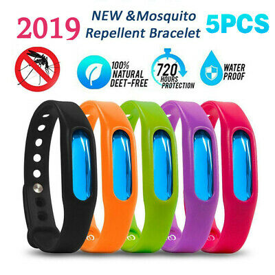 5Pcs Natural Anti-mosquito Insect Bites Pest Bug Repellent Wrist Band Bracelet