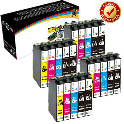 LOT Ink Cartridges (Set + Bk) for Epson Workforce WF-2010W WF-2630WF WF-2750DWF