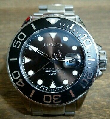 100db2339 Invicta Reserve Men's 50mm Grand Diver Swiss Made Automatic Bracelet Watch