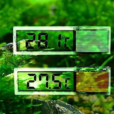 1*3D Digital Fish Tank Thermometer Electronic LED Thermometer Aquariums Supplies