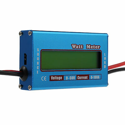 DC Watt meter with LCD display for DC 0-60V 0-100A balance voltage current