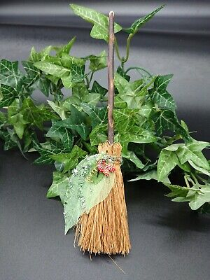 Witches Mini broom Besom Altar spell supplies Pagan Witchcraft  broom green