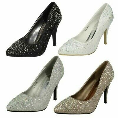 Damen Anne Michelle Glitzer Spitz Strass' Pumps '