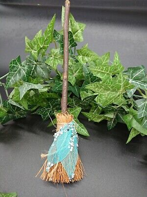 Witches Mini broom Besom Altar spell supplies Pagan Witchcraft  broom blue