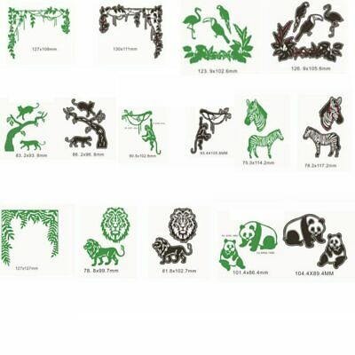 Animals ZOO Branches Metal Cutting Dies Stencil Scrapbooking Embossing DIY Card