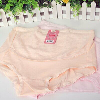 Pregnancy High Waist Underwear Breathable Ladies Knickers Pregnant Belly Care G