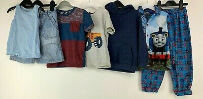 Boys 3/4 Yrs Clothes Bundle Hoodie Pj T-shirts Denim Next Shorts Vest Thomas
