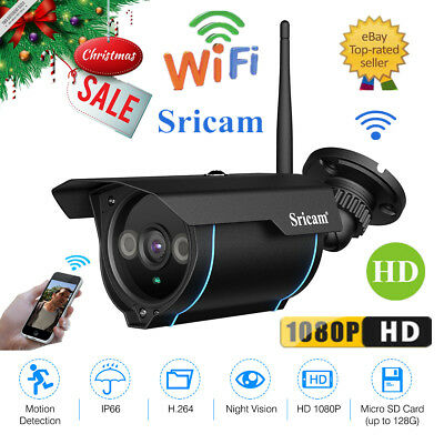 1080P Wireless Outdoor IP Network Camera WiFi Night Vision CCTV IR Security Cam