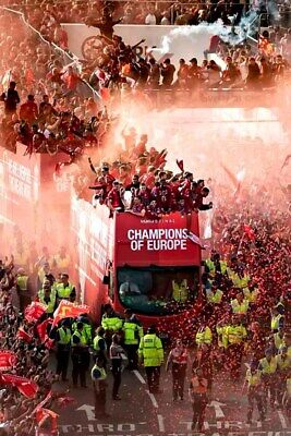 Liverpool Champions League European Cup Winners Parade 2019 Photograph Print