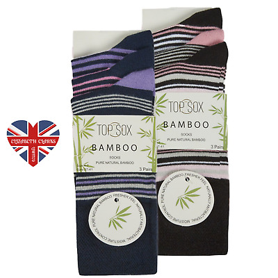 Ladies Non Elastic Bamboo Socks Loose Top Gentle Super Soft Rich Touch Diabetic