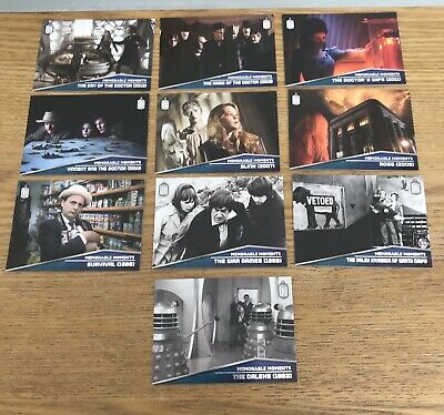 Doctor Who Topps 2015 Memorable Moments Set M1 - M10