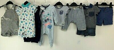 Baby Boys 0/3 Months Clothes Bundle Shorts Rombers Dungarees Whale Star H&M
