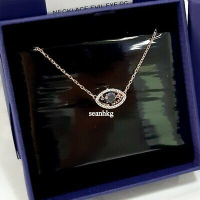 Swarovski Luckily Necklace Evil Eye ROS DANCING BLUE Crystal Authentic 5448611