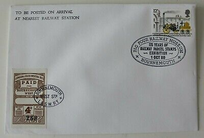 Railway Museum 1980  Parcel Stamp Exhib.  London South Western Bournemouth Cover