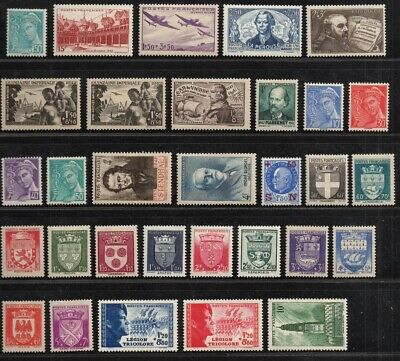 FRANCE ANNEE COMPLETE 1942 MNH Neufs