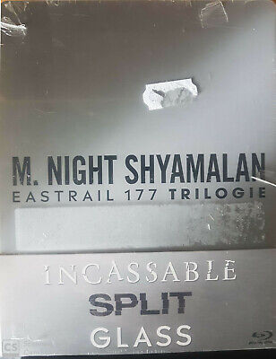Trilogie Glass Split Incassable Steelbook  Blu Ray  Neuf Sous Cellophane