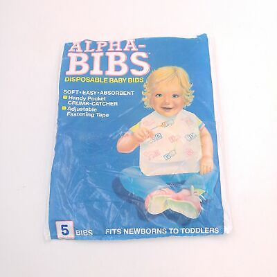 Vintage Alpha-Bibs Disposable Baby Absorbent Baby Bib