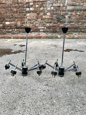 60s Vintage Mid Century Atomic Black/Chrome 5 Branch Chandelier Retro Spaceage