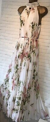 Ted Baker White Silk Maxi Halter Neck Dress New BNWT 6 8 10 12 £279 1 2 3 4