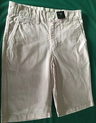 Boys Marks & Spencer Autograph Tailored Shorts Size 8-9 Years Pale Pink BNWT