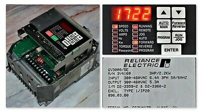 Reliance Electric Gv3000/Se 3 Hp 3V4160  Frn 6.01 Inverter Tested Good No Cover