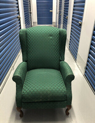 Vintage Queen Anne Style Recliner  Reclining Chair
