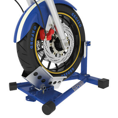 Oxford Motorcycle Motorbike Robust Steel Bike Dock Front Wheel Transport OX283