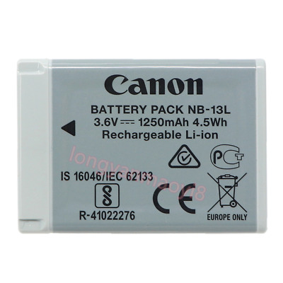 Original Canon NB-13L Battery for PowerShot G7X G5X G9X SX720 SX620 G7XII G9XII