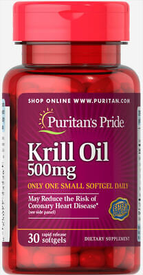 Puritan's Pride Red Krill Oil 500 mg (86 mg Active Omega-3) - 30 Softgels
