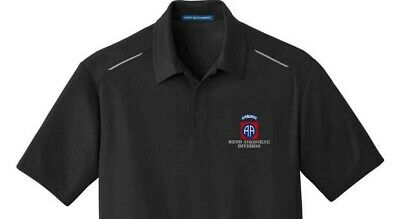Army 82nd Airborne Division Embroidered Performance Golf Polo