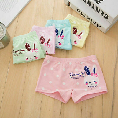 4 Pack Briefs Cotton Knickers Girls Boxer Shorts Underwear Age 3 4 5 6 7 8 9 Yrs
