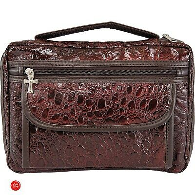Bible Cover For Women Xl Case Leather Large Carrying Organizer Zippered 2 Pocket
