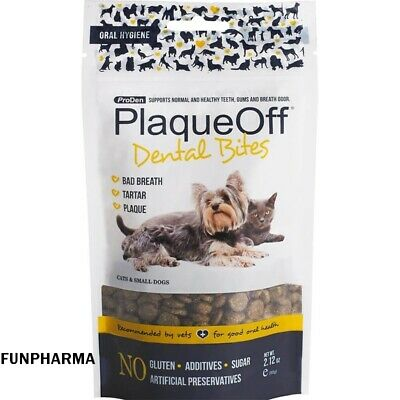 ProDen PlaqueOff Animal Dental Bites, Cats & Dogs, 60g, - Registered Mail