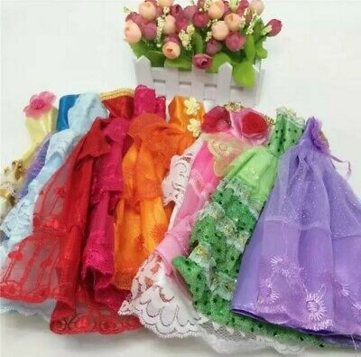 1 Handmade Doll barbie Dress  Wedding Clothes free gift free shipping
