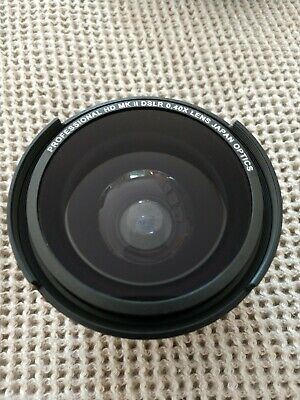 Zeikos 0.40x Fisheye Lens, Lens Cap & Pouch. 46/49/52/58mm fit.