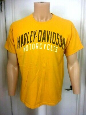 Harley Davidson T Shirt yellow cotton Johnstown PA  motorcycles l large