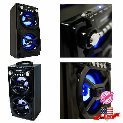 Bluetooth Party Speaker System Portable Stereo Big LED Light Up Tailgate Loud