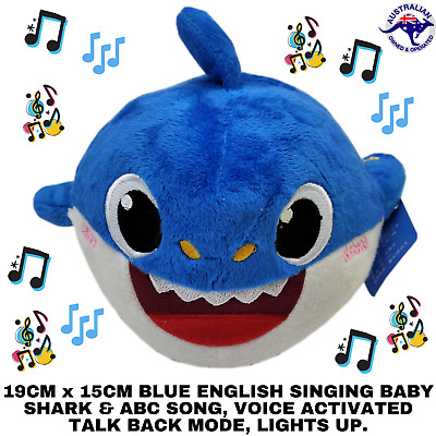 2019 Blue Baby Shark Plush Singing Plush Toys Music Recording Doll English Song