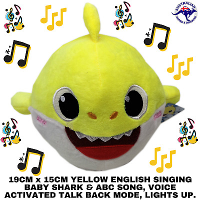 2019 Yellow Baby Shark Plush Singing Plush Toys Music Recording English Song