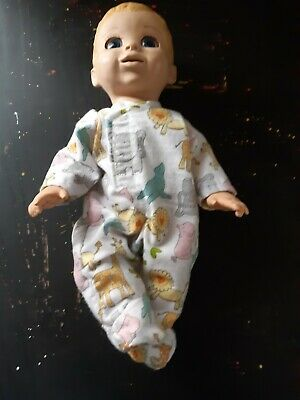 Homemade Baby Luvabella White with Zoo Animals Coverall Pyjamas