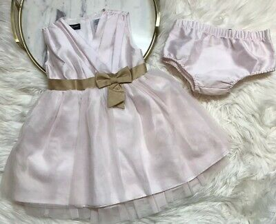 Wendy Bellissimo Baby Kids Girls Dress Pink Brown Tulle Size 18 Mos Panties