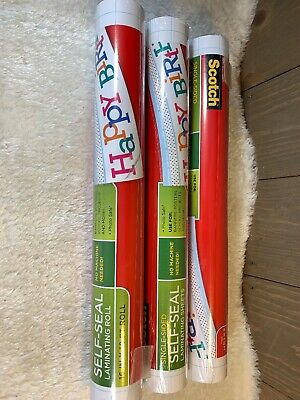 Single Sided Scotch Self-Seal Laminating Sheets 16-Inches x 10-Foot Roll New