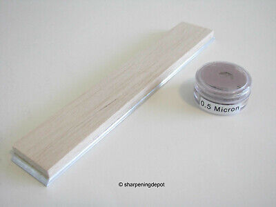 """Balsa Strop + 0.5 Micron Diamond Paste 1""""x6"""" For Guided Sharpening Systems"""