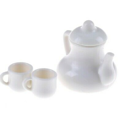 Miniature Dolls House Accessories White Milk Jug with 2 White Mugs 1:12th scale