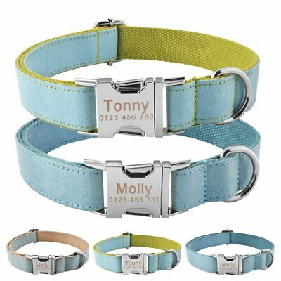 Nylon Personalized Dog Collar for Small Large Dogs Custom Engraved Name ID Tag