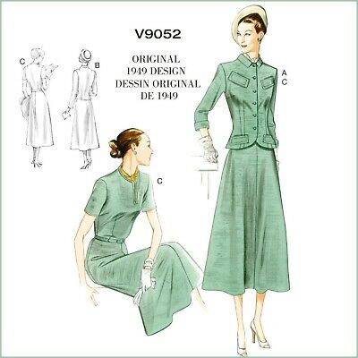 #120 1940/'S DOUBLED DRAPED COCKTAIL DRESS PATTERN