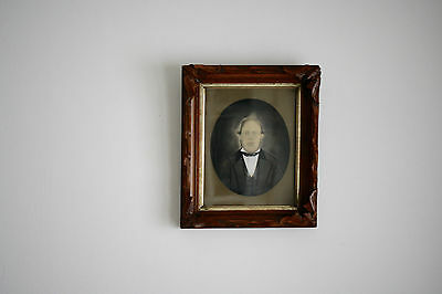 AAFA Antique Watercolor Portrait Arts and Crafts Mission Style A&C Walnut Frame